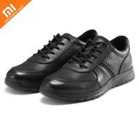 Оригинальная Повседневная обувь в деловом стиле xiaomi youpin, обувь из телячьей кожи, нескользящая износостойкая мужская обувь, умный дом