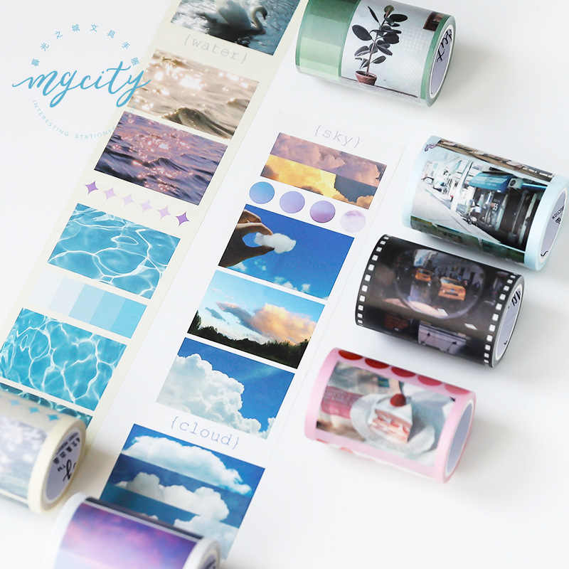 6.5 cm Sky Wave Aardbei Film Washi Tape Plakband DIY Scrapbooking Sticker Label Craft Masking Tape