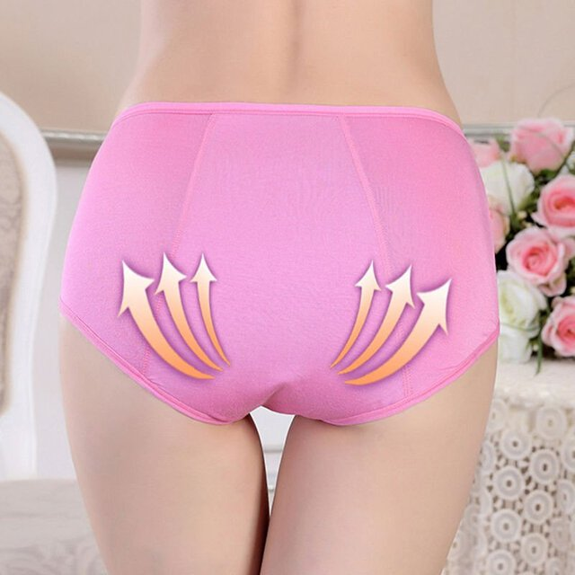 Women Menstrual Period Leakproof Physiological Pant Briefs Seamless Panties