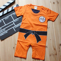 2016 New Summer 100 Cotton Baby Girls Rompers Wu Kong Costume Baby Boys Jumpsuit Short Sleeve
