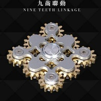 NINE TEETH LINKAGE Hand Spinner Copper EDC Sensory Fidget Torqbar Spinner For Autism and ADHD Kids/Adult Funny Anti Stress Toys
