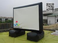 Custom Outdoor Advertising Inflatable Projector Movie Screens For Sale