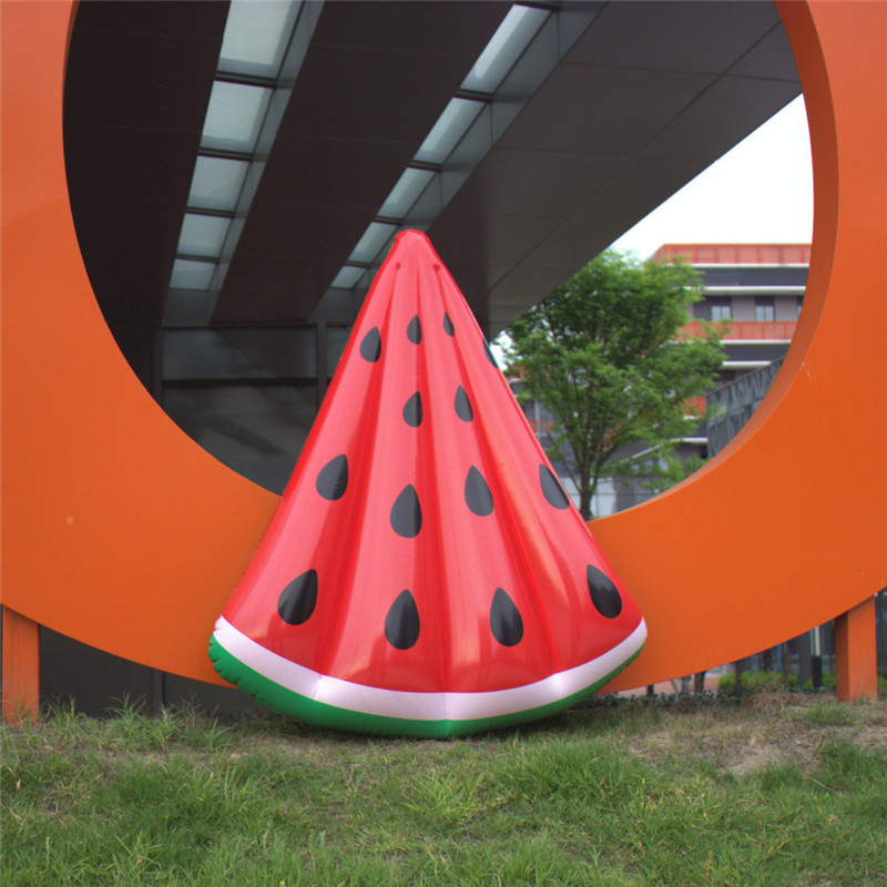 120*100CM Inflatable Triangle Watermelon Fruit Floating Row Large Outdoor Lawn Games Recreation Airtrack Inflatable Water Toys