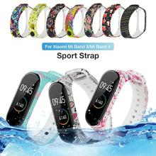 Newest Painted Pattern Personalized Print Replacement Silicone Wrist Strap Universal For Xiaomi 4 /3 Mi Band 4/3