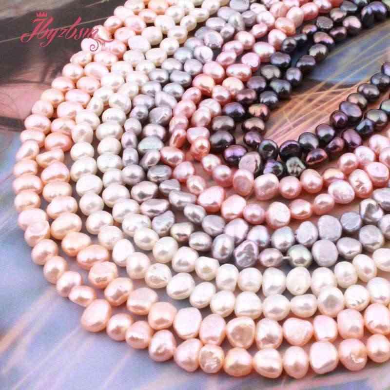 """3-4,5 мм нерегулярные пресноводные жемчужные бусины из натурального камня для своими руками Ожерелье Браслеты Изготовление сережек 14,5 """"Бесплатная доставка"""