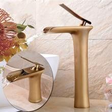 Antique Basin Faucet Copper Rotating Hot and Cold Washing Washbasin Retro