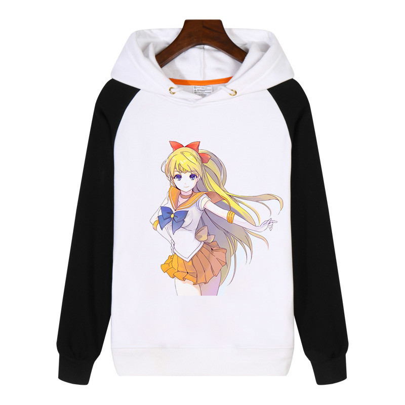 New Arrival Sailor Moon Cosplay Costume High Quality Thickend Costume  Cartoon Cute Women Velvet Cap Jacket Hoodie Sweatershirt