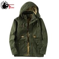 Men Fashion Jacket Men 2019 Windbreaker Men Fleece Jacket Winter Coat Men Thick Velvet Warm Hood Cap Thermal Anorak Male Jacket