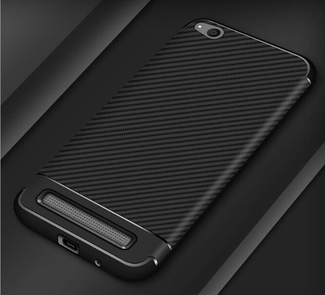 Shockproof Armor Carbon Case for Xiaomi Redmi 5a Cover Soft TPU Silicone Coque for Xiaomi Redmi 5a Case Leather Luxury Fundas