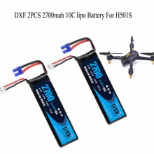 DXF 2PCS Lipo Battery 7.4V 2700mah EC2 10C Max 20C Lipo battery For H501S Aircraft Airplane Quadcopter Free Shippin 2017 good quality hubsan h501s x4 rc quadcopter spare parts 7 4v 2700mah 10c rechargeable battery h501s 14 free shipping