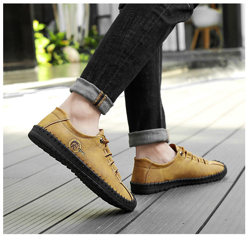 HTB1VXJfayDxK1Rjy1zcq6yGeXXap - 2019 New Fashion Leather Spring Casual Shoes Men's Shoes Handmade Vintage Loafers Men Flats Hot Sale Moccasins Sneakers Big Size