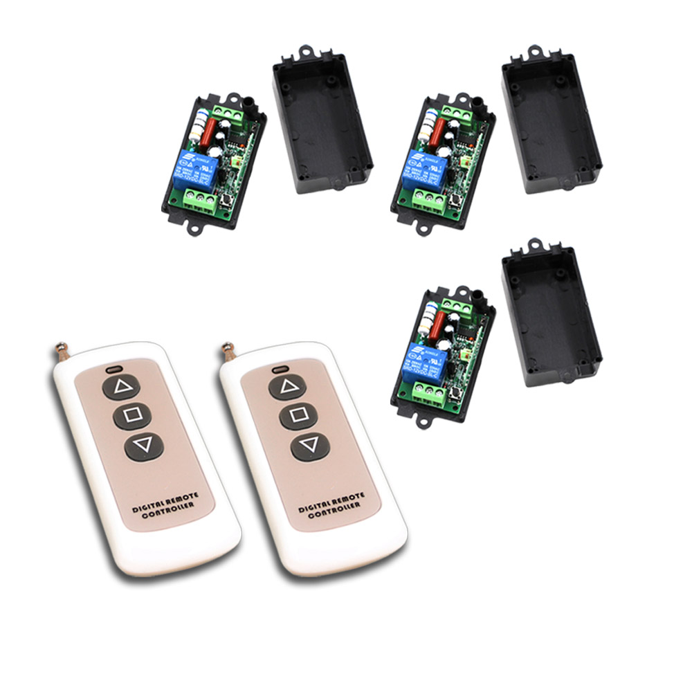 Best Price AC220V 110V 1CH RF Wireless Remote Control Switch System Relays Receiver Remote Control Transmitter with 3Key [vk] mcbc1250cl ssr 50a burst fire control 10v relays