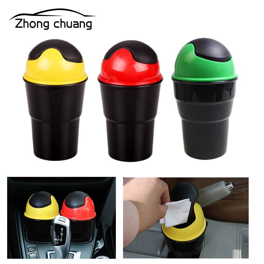 Car trash can Creative mini flip storage bucket fashion box