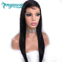 250% Density 360 Lace Frontal Wigs With Baby Hair Straight Brazilian Remy Hair Pre Plucked 100% Human Hair Wigs NYUWA Hair