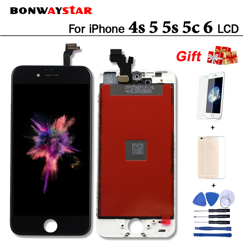 AAA Quality LCD Screen For iPhone 5 5s 5c 4s 6 Display Assembly Replacement with Original Digitizer Phone Parts for iphone 6 LCD