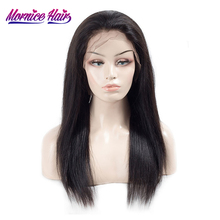 hot deal buy lace front human hair wigs for women natural hair line with baby hair brazilian straight remy hair lace wigs pre plucked mornice