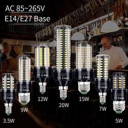 E27 светодиодный светильник E14 лампа колба в виде лампады светодиодный 220 V Кукуруза лампы 3,5 W 5 W 7 W 9 W 12 W 15 W 20 W Bombillas SMD 5736 110 V светодиодный свет