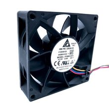 80mm PWM Cooling Fan 8cm FFB0812EH 80*80*25mm 12V 0.80A 6200RPM High Speed CFM Cooler 12V Dual Ball Bearing Fan,for Delta