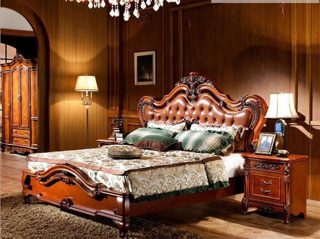 China Guangdong Barato de Lujo clásico Europeo Camas muebles de ...