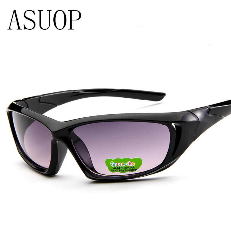 ASUOP2018 new high-end brand boys fashion glasses travel mountaineering children's safety cat's eye sunglasses girl UV400 sungla