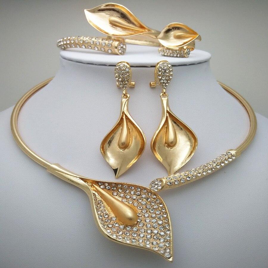 Aroma Gut Nachrichten Königreich Ma Nigerian Hochzeit Afrikanische Perlen Zink-legierung Schmuck Sets Dubai Schmuck-sets Halskette Armband Ohrringe Ring Sets Duftendes In