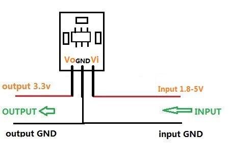 How do I connect a 5V sensor to a 33V input Lets