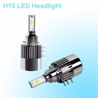 H15 LED Phare Phare De Voiture 100 W 11600LM Pour Volkswagen Golf 6 7/Touran/Touareg/BMW 220I/Benz GLK/A180/A45 AMG/Audi A3/A6