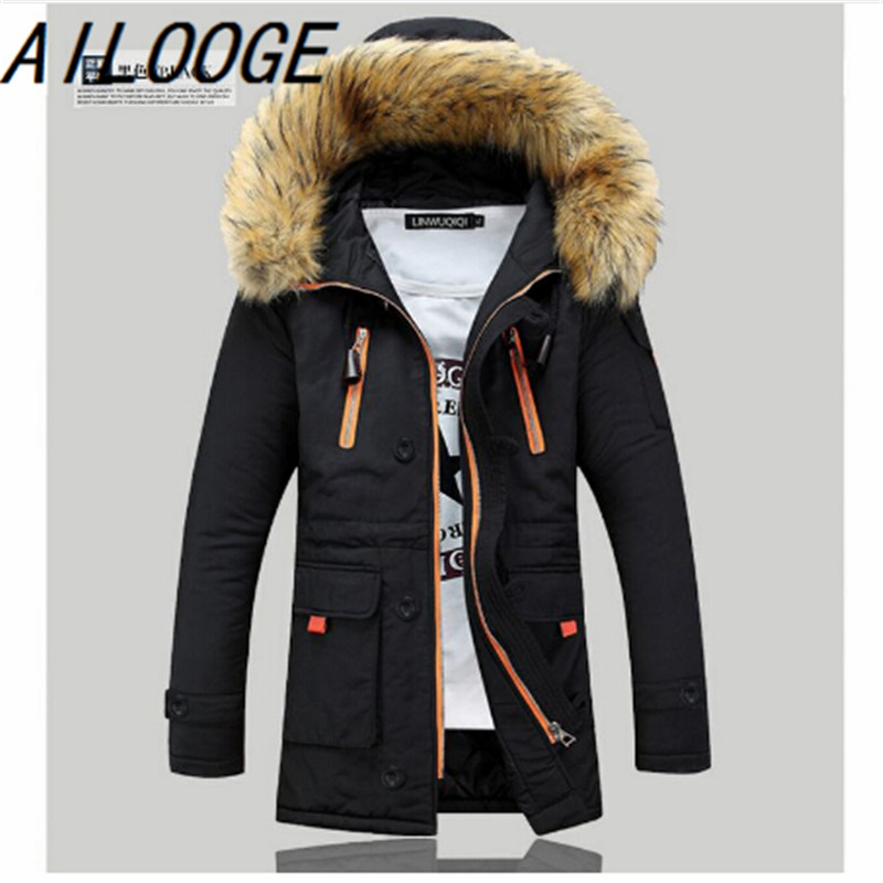 Free shipping 2016 fashion mens down jacket to keep warm in the winter long men down coat jacket