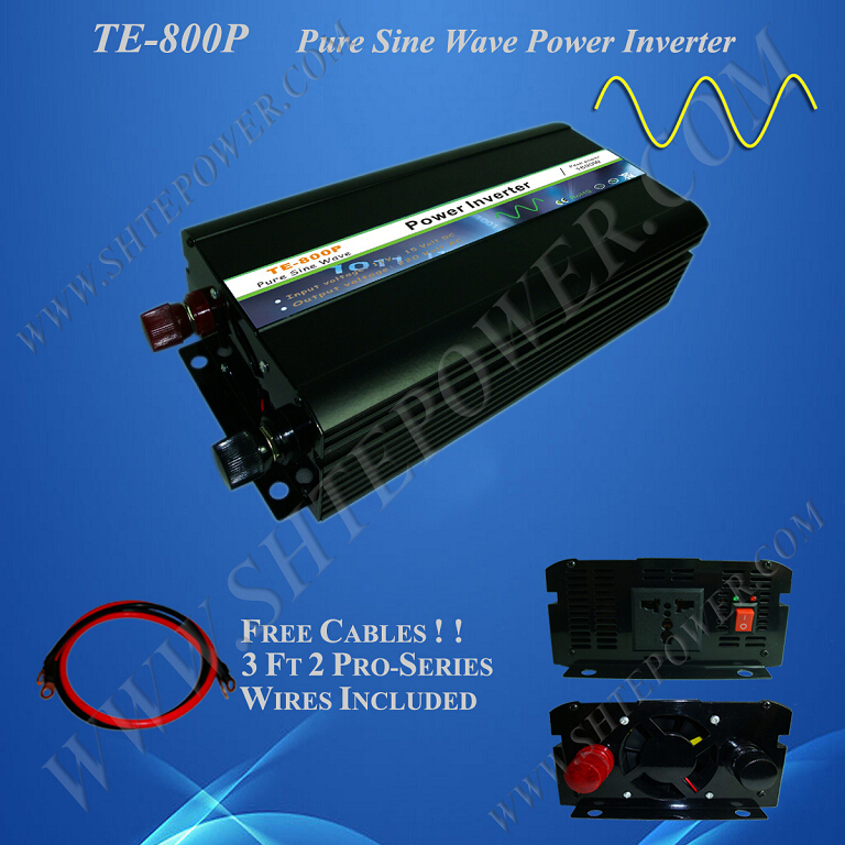 wind solar power hybrid 800w pure sine wave 12 volt 220 volt inverter dc to ac