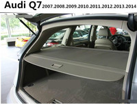 Car Rear Trunk Security Shield Cargo Cover For Audi Q7 2007.2008.2009.2010.2011.2012.2013.2014 High Qualit Auto Accessories