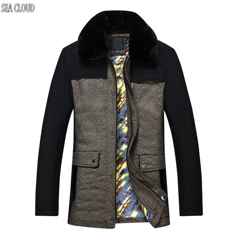 Sea Cloud Plus size male wadded jacket cotton-padded jacket loose Patchwork outerwear cotton-padded Casual Casual coat 7xl 8xl