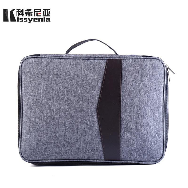 Kissyenia 13 Inch Laptop Briefcase Men Business A4 HandBags Multifunction Waterproof Macbook Case Travel Bags Portfolio KS1051