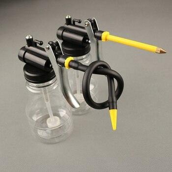 цена на New 250ML Transparent High Pressure Pump Oiler Lubrication Oil Can Plastic Machine Oiler Grease Oil Pot CLH@8