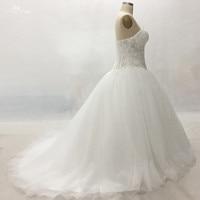 LZ173 Yiai Bridal Plus Size In Stock White Wedding Dress Illusion Beaded Wedding Dress Ball Gown