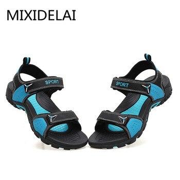 MIXIDELAI Outdoor Fashion Men Sandals Summer Men Shoes Casual Shoes Breathable Beach Sandals Sapatos Masculinos Plus Size 35-46 1