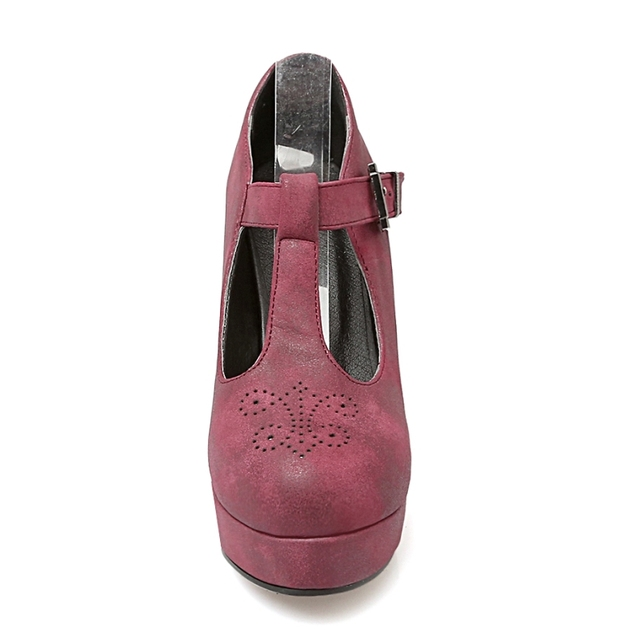 KarinLuna Big Size 34-43 Sexy Women Gladiator T Straps Square High Heel Shoes Spring Autumn Party Wedding Platform Pumps