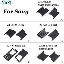 YuXi 1X Micro Sim Card Tray Holder Slot For Sony Xperia Z L36h Z1 L39h Z2 Z3 Mini Z4 Z5 Premium Z5 Compact Sim Card Holder Part(China)