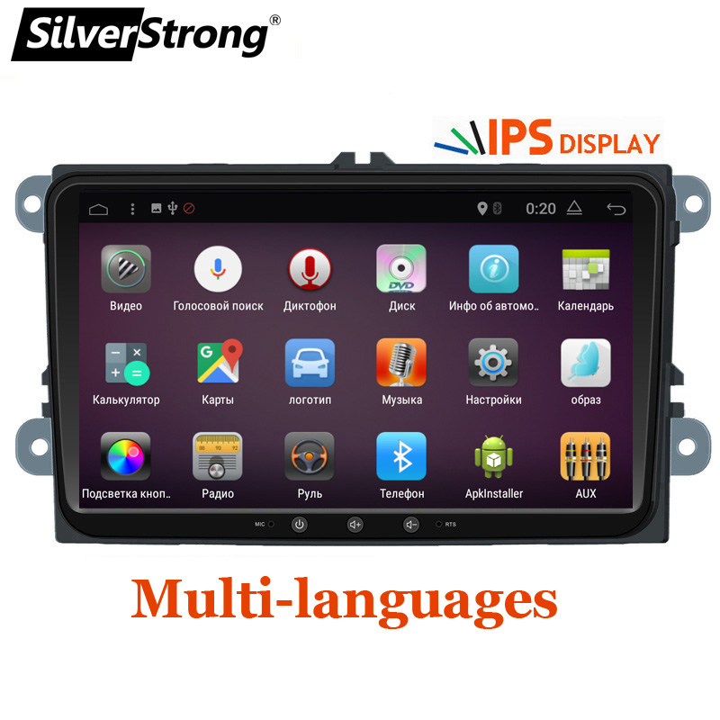 SilverStrong Jetta Auto DVD Android7.1 Radio Quad Core Auto ANDROID Per VW Golf6 Golf5 Tiguan Passat B6 B7 Polo GPS android 901BT3