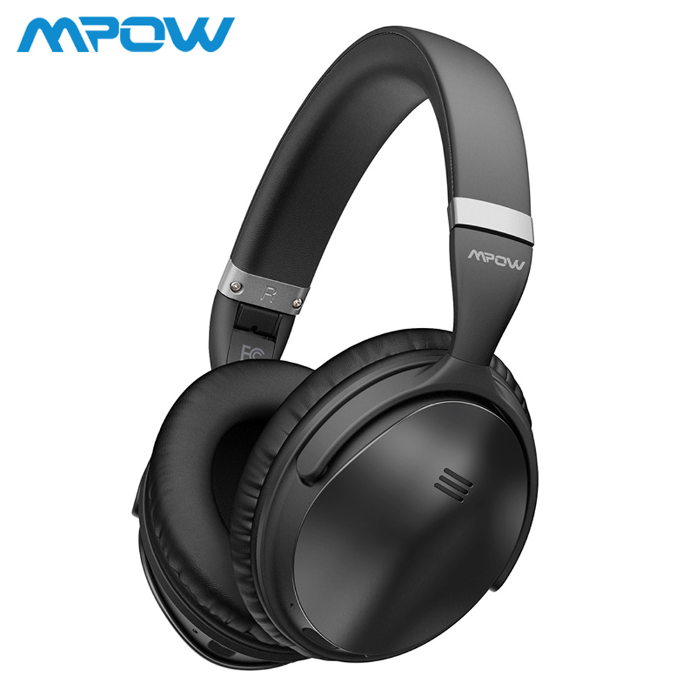 Mpow H5 2nd ANC Active Noise Cancelling Wireless Bluetooth Headphones Hi Fi Stereo Headset With Carry