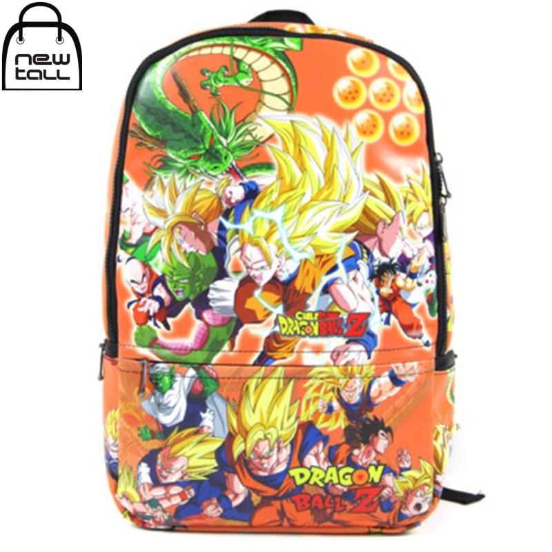 [NEWTALL] 2017 New Anime DragonBall Z DBZ Son Goku Super Saiyan Backpack Student School Shoulder bag 16073023 new hot anime dragonball z backpack son goku cosplay backpacks dragon ball canvas student school bags unisex travel laptop bags
