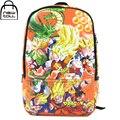 [Newtall] 2017 Nova Anime DragonBall Z DBZ Son Goku Super Saiyan Backpack Estudante Da Escola bolsa de Ombro Frete Grátis 16073023