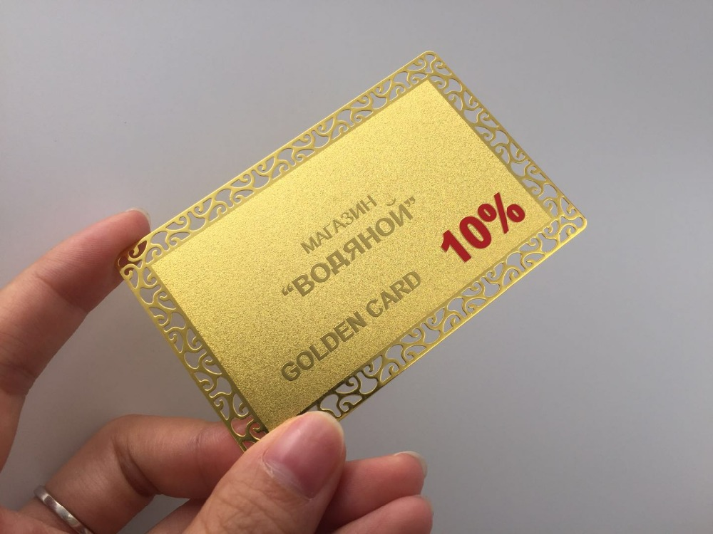 shipping cost for custom design gold metal cards