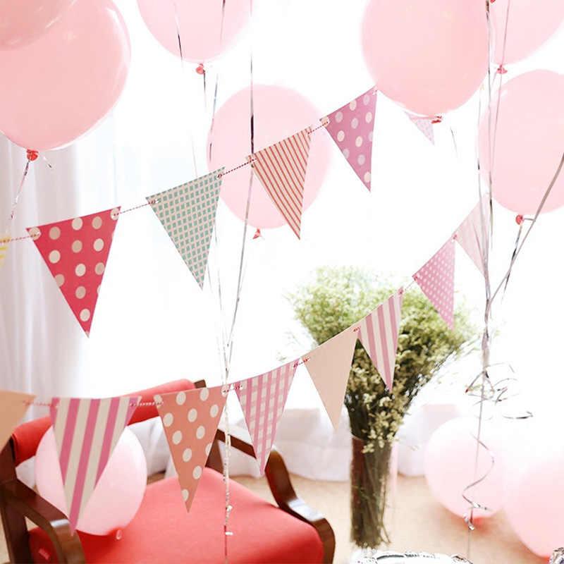 أعلام حفلات الزفاف دش راية استحمام الطفل جارلاند عيد ميلاد سعيد ديكور حفلات الزواج غرفة الأطفال معلقة