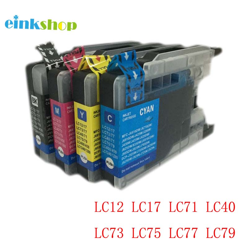 1Set Ink Cartridge for Brother LC12 LC17 LC71 LC40 LC73 LC75 LC77 LC79 LC400 LC450 LC1220 LC1240 <font><b>LC1280</b></font> MFC-J6910CDW/J6710CDW image