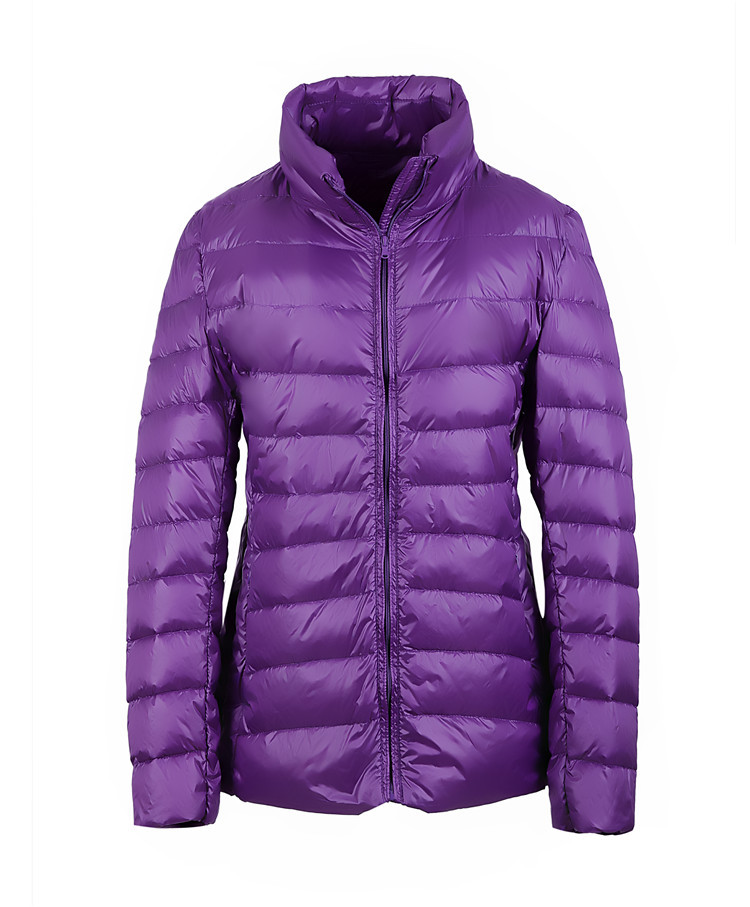 2017 women ultra light down jacket winter duck down jackets women slim thin long sleeve stand collar parka zipper coat plus size