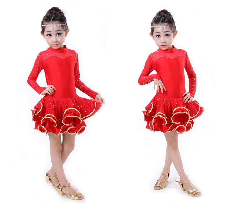 e47bbc9da363 High quality Fall and winter children s ballroom stage clothing ...