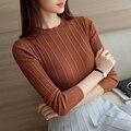 6307-outono Coreano das mulheres novas pequena bombeamento de uma polegada de colarinho da camisa camisola 22
