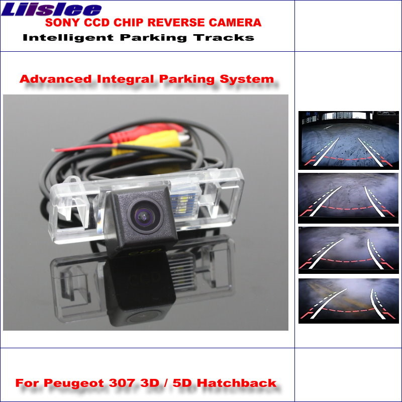 liislee high quality 3089 chip intelligentized rear camera for peugeot 307  3d / 5d hatchback / ntsc pal rca aux hd sony ccd