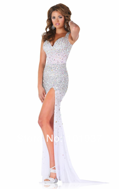 Aliexpress.com : Buy 2017 New Fashion Elegant Sexy Slit Beaded ...