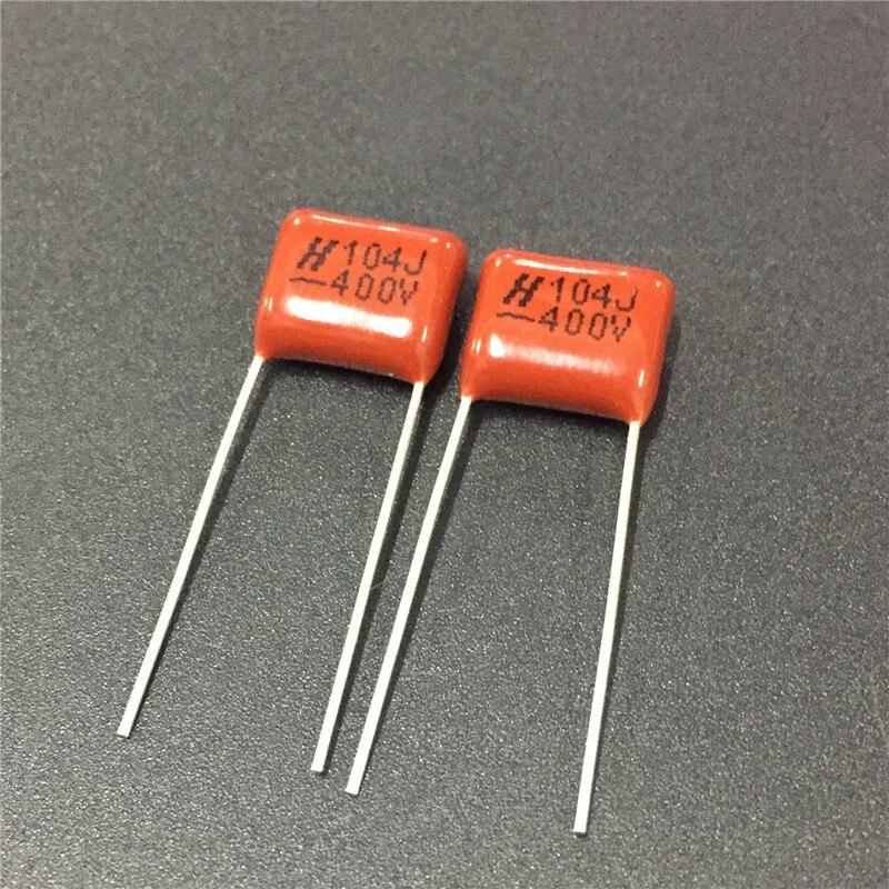 100pcs CBB Capacitor 104 400V 104J 0.1uF 100nF P10 CL21 Metallized Polypropylene Film Capacitor